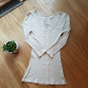Cream and lace shirt for Anthropologie